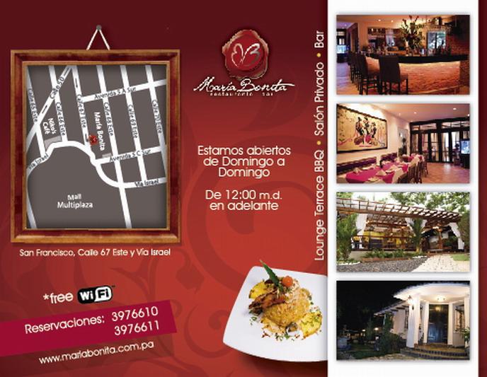 Restaurante María Bonita.Contacto y dirección