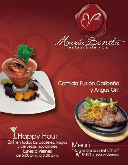 Restaurante María Bonita. Contacto y dirección.