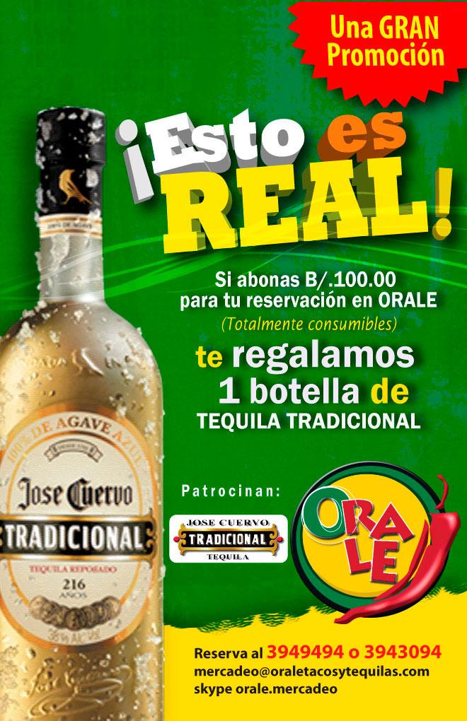 Oferta: Regalo 1 botella de tequila-tradicional JOSÉ CUERVO